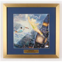 "Margaret Kerry Signed ""Peter Pan"" 17.5x18 Custom Framed Thomas Kinkade Print Display Inscribed ""Tink"