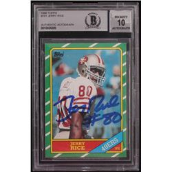 Jerry Rice Signed 1986 Topps #161 RC (BGS Encapsulated)