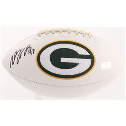 Davante Adams Signed Green Bay Packers Logo Football (Radtke COA)