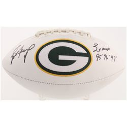 "Brett Favre Signed Green Bay Packers Logo Football Inscribed ""3x MVP 95', 96' 97'"" (Radtke COA)"