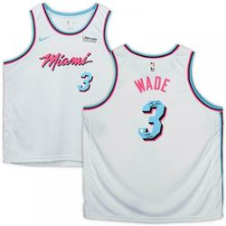 """Dwyane Wade Signed Miami Heat LE Vice Jersey Inscribed """"Wade Country"""" (Fanatics Hologram)"""