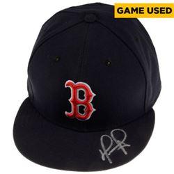 David Ortiz Signed Boston Red Sox Game-Used New Era Baseball Hat (Fanatics Hologram)