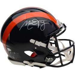 Mitch Trubisky Signed Chicago Bears Throwback Full-Size Authentic On-Field Speed Helmet (Fanatics Ho