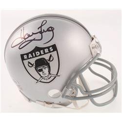 Howie Long Signed Oakland Raiders Throwback Mini Helmet (Beckett COA)