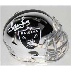 Howie Long Signed Oakland Raiders Chrome Speed Mini Helmet (Beckett COA)