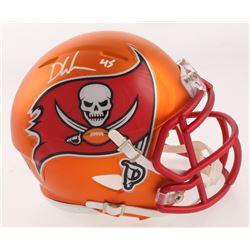 Devin White Signed Tampa Bay Buccaneers Blaze Speed Mini Helmet (Beckett COA)