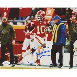 Tyreek Hill Signed Kansas City Chiefs 8x10 Photo (JSA COA)