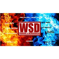 """WSD """"Fire Football"""" Mystery Jersey Box - Autographed Football Jersey Series - 2"""