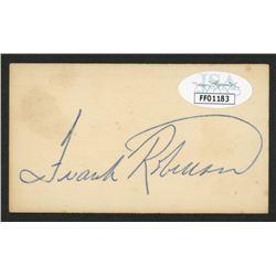 Frank Robinson Signed Business Card (JSA COA)