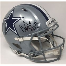"Dak Prescott Signed Dallas Cowboys LE Full-Size Authentic On-Field Speed Helmet Inscribed ""ROTY 16"""