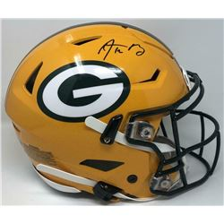 Aaron Rodgers Signed Green Bay Packers Full-Size Authentic On-Field SpeedFlex Helmet (Fanatics Holog