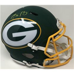 Aaron Rodgers Signed Green Bay Packers AMP Full-Size Authentic On-Field Helmet (Fanatics Hologram)