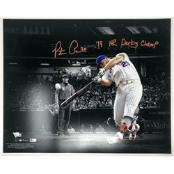 "Pete Alonso Signed New York Mets 16x20 Photo Inscribed ""19 HR Derby Champ"" (Fanatics Hologram)"