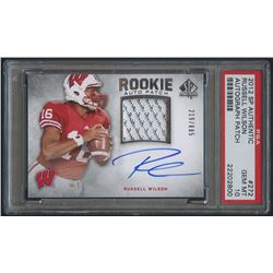 2012 SP Authentic #272 Russell Wilson Rookie Jersey Autograph #219/885 (PSA 10)