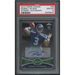2012 Topps Chrome Rookie Autographs #40 Russell Wilson (PSA 10)