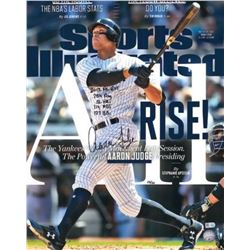 """Aaron Judge Signed New York Yankees 16x20 LE Sports Illustrated Cover Photo Inscribed """"2017 AL ROY"""","""