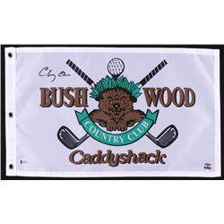 "Chevy Chase Signed ""Caddyshack"" Bushwood Country Club Pin Flag (Beckett COA  Chase Hologram)"