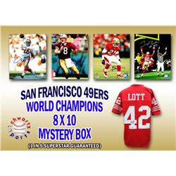 San Francisco 49ers Signed Mystery 8x10 Photo – World Champions Edition - Series 4 - (Limited to 1