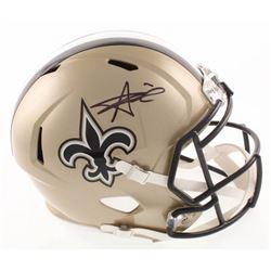 Alvin Kamara Signed New Orleans Saints Speed Full Size Helmet (JSA COA)