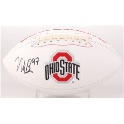 Nick Bosa Signed Ohio State Buckeyes Logo Football (JSA COA)