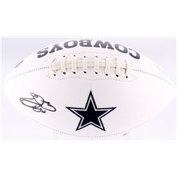 Emmitt Smith Signed Dallas Cowboys Logo Football (Beckett COA)