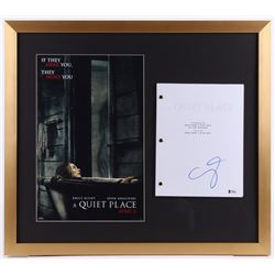 "Emily Blunt Signed ""The Quiet Place"" 23x26 Custom Framed Movie Script Display (Beckett COA)"