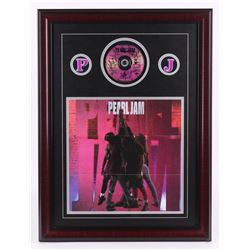 "Pearl Jam Band-Signed ""Ten"" 21x28 Custom Framed CD Display with Poster (PSA LOA)"