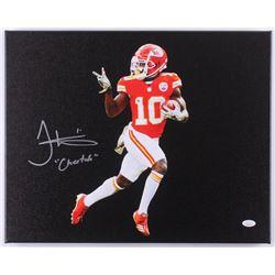 "Tyreek Hill Signed Chiefs 16x20 Photo on Canvas Inscribed ""Cheetah"" (JSA COA)"