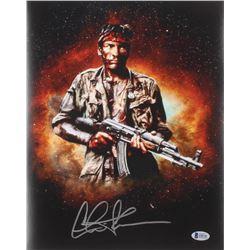 """Charlie Sheen Signed """"Platoon"""" 11x14 Photo (Beckett COA)"""