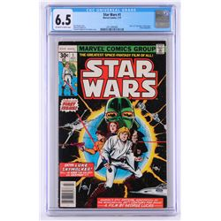 "1977 ""Star Wars"" Issue #1 Marvel Comic Book (CGC 6.5)"