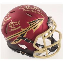 Chris Weinke, Jameis Winston  Charlie Ward Signed Florida State Seminoles Speed Mini-Helmet with (3)