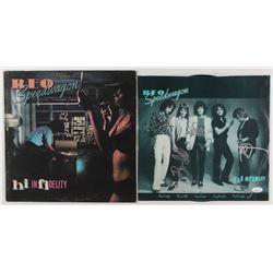 "Kevin Cronin, Bruce Hall, Neal Doughty Signed REO Speedwagon Signed ""Hi Infidelity"" Vinyl Album (JSA"