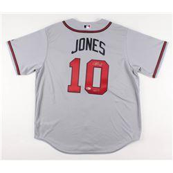 """Chipper Jones Signed Atlanta Braves Jersey Inscribed """"HOF 18"""" (Beckett COA)"""