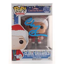 """Chevy Chase Signed """"National Lampoon's Christmas Vacation"""" Clark Griswold #242 Funko Pop! Vinyl Figu"""