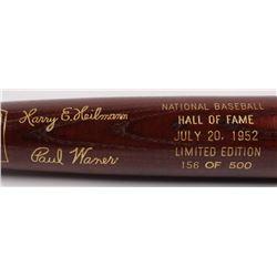 Harry E. Heilmann  Paul Waner LE Custom Engraved Louisville Slugger Powerized Hall of Fame Logo Base