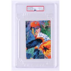 """Nolan Ryan Signed LeRoy Neiman 4x6 Cut Inscribed """"Don't Mess with Texas!"""" (PSA Encapsulated)"""