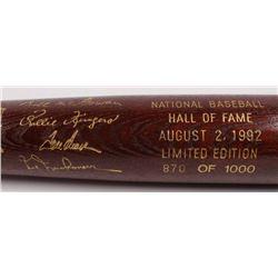 LE Custom Engraved Louisville Slugger Powerized Hall of Fame Logo Baseball Bat with Bill McGowan, Ro