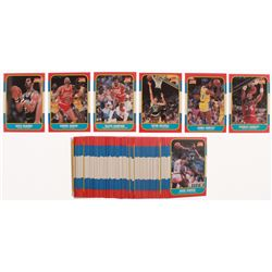1986-87 Fleer Basketball Partial Set of (94/132) Cards with #7 Charles Barkley RC, #131 James Worthy