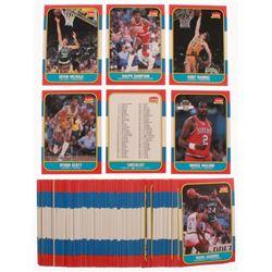 Lot of (84) 1986-87 Fleer Basketball Cards with #97 Ralph Sampson RC, #89 Kurt Rambis RC, #73 Kevin