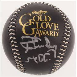 "Ron Guidry Signed Gold Glove Award Baseball Inscribed ""5x G.G."" (PSA COA)"