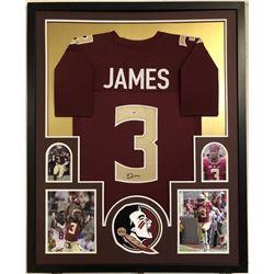 Derwin James Signed 34x42 Custom Framed Jersey (PSA COA)