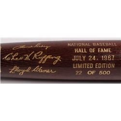 Branch Rickey, Red Ruffing  Lloyd Waner LE Custom Engraved Louisville Slugger Powerized Hall of Fame