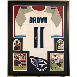 A.J. Brown Signed 34x42 Custom Framed Jersey (JSA COA)