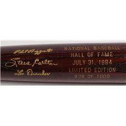 Phil Rizzuto, Steve Carlton  Leo Durocher LE Custom Engraved Louisville Slugger Powerized Hall of Fa