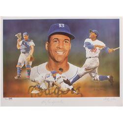 Roy Campanella Signed LE Brooklyn Dodgers 18x24 Poster (PSA LOA)