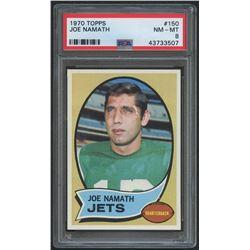 1970 Topps #150 Joe Namath (PSA 8)