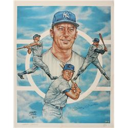 Mickey Mantle Signed LE New York Yankees 22x27 Poster (PSA LOA)