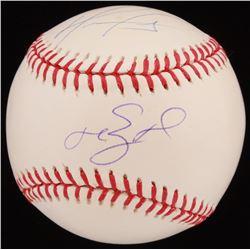 David Ortiz  Manny Ramirez Signed OML Baseball (Steiner COA  MLB Authentication Hologram)