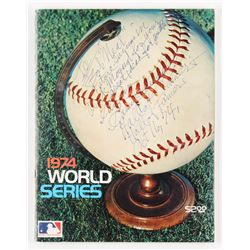 Casey Stengel Signed 1974 World Series Program with Extensive Inscription (JSA ALOA)