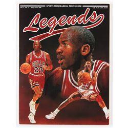 Michael Jordan Signed Legends Sports Memorabilia Magazine (JSA ALOA)